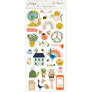 AMERICAN CRAFTS JEN HADFIELD REACHING OUT CARDSTOCK STICKERS (PRE-ORDER)