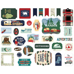 CARTA BELLA OUTDOOR ADVENTURES EPHEMERA ICONS (PRE-ORDER)