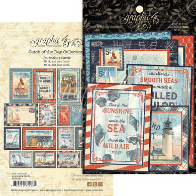 GRAPHIC 45 CATCH OF THE DAY EPHEMERA JOURNAL CARD PACK (IN STOCK)