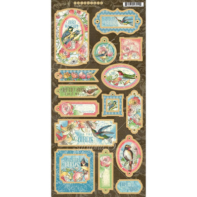 GRAPHIC 45 BIRD WATCHER CHIPBOARD (PRE-ORDER)
