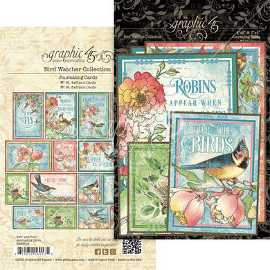 GRAPHIC 45 BIRD WATCHER EPHEMERA JOURNAL CARD PACK (IN STOCK)