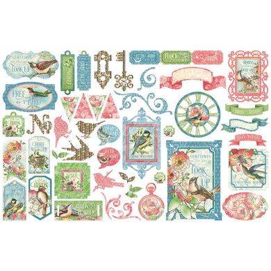 GRAPHIC 45 BIRD WATCHER EPHEMERA DIE CUT PACK (PRE-ORDER)