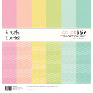 "SIMPLE STORIES COLOR VIBE BASICS DOUBLE-SIDED PAPER PACK 12""X12"" LIGHTS (HAS TO BE ORDERED)"