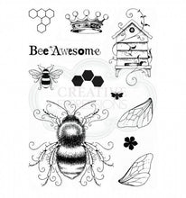 Load image into Gallery viewer, CREATIVE EXPRESSIONS CLEAR STAMPS A5 PINK INK DESIGNS BEE-UTIFUL (HAS TO BE ORDERED)