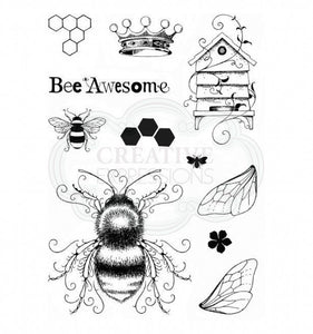 CREATIVE EXPRESSIONS CLEAR STAMPS A5 PINK INK DESIGNS BEE-UTIFUL (HAS TO BE ORDERED)