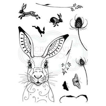 Load image into Gallery viewer, CREATIVE EXPRESSIONS CLEAR STAMPS A5 PINK INK DESIGNS HARE (HAS TO BE ORDERED)