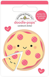 DOODLEBUG DESIGNS DOODLE-POP STICKER EMBELLISHMENTS PIZZA LOVE (CLEARANCE)