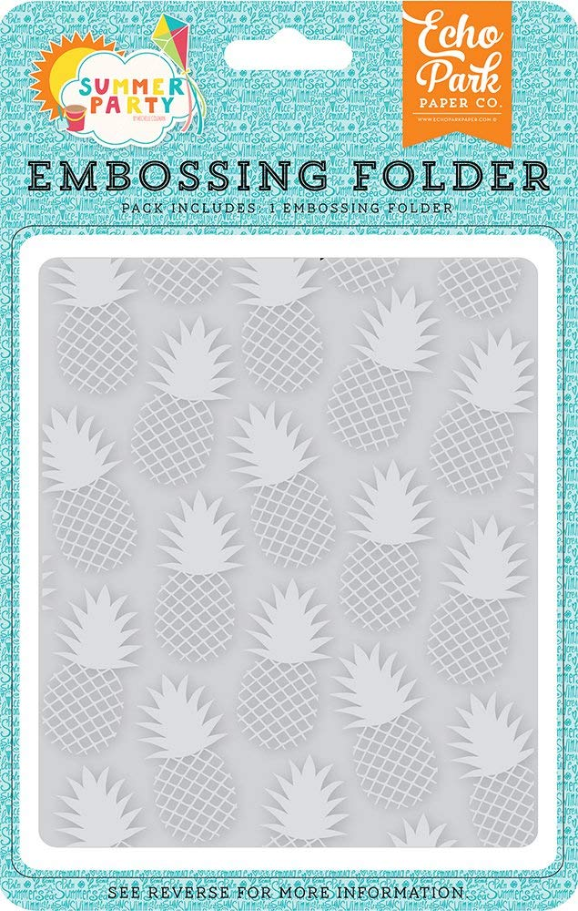 ECHO PARK EMBOSSING FOLDER SUMMER PARTY PINEAPPLE (CLEARANCE)