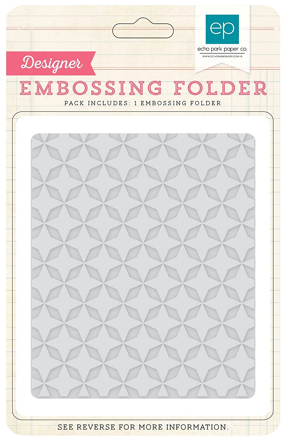 ECHO PARK EMBOSSING FOLDER QUILTED STAR (CLEARANCE)