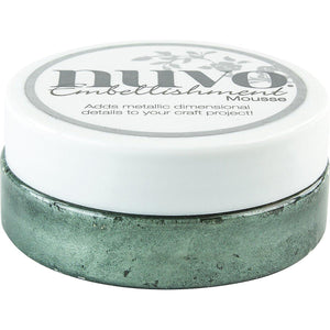NUVO EMBELLISHMENT EMBOSSING TEXTURE MOUSSE SEASPRAY GREEN (CLEARANCE)