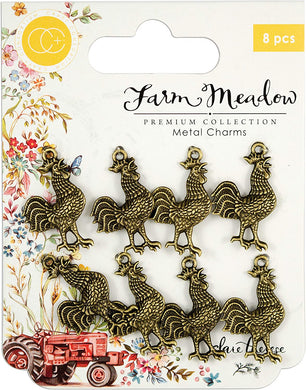 CRAFT CONSORTIUM FARM MEADOW METAL CHARM EMBELLISHMENTS