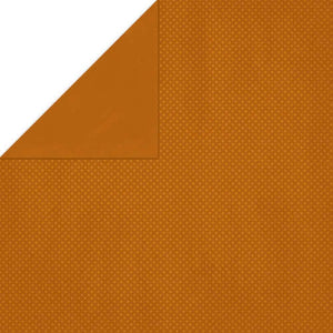 "BO BUNNY (1) SHEET DOUBLE DOT 12""X12"" CARDSTOCK RUST (IN STOCK)"