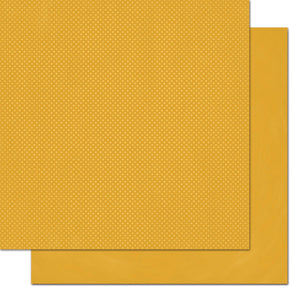 "BO BUNNY (1) SHEET DOUBLE DOT 12""X12"" CARDSTOCK MAIZE (IN STOCK)"