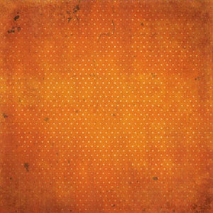 "BO BUNNY (1) SHEET DOUBLE DOT VINTAGE 12""X12"" CARDSTOCK BURNT ORANGE (IN STOCK)"