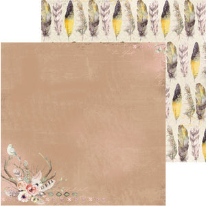 "BO BUNNY SERENDIPITY (1) DOUBLE SIDED 12""X12"" PAPER ""FEATHERS"" (CLEARANCE)"