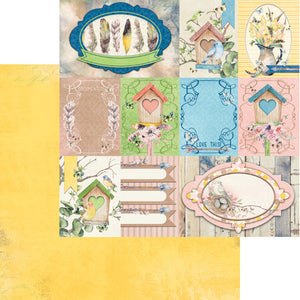 "BO BUNNY SERENDIPITY (1) DOUBLE SIDED 12""X12"" PAPER ""SONGBIRD"" (CLEARANCE)"