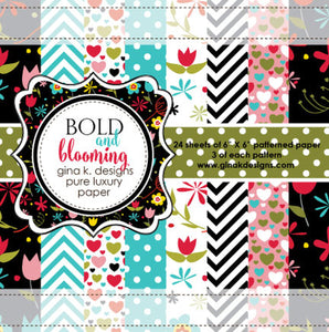 "DIRECT BUY GINA K DESIGNS 6""X6"" PAPER PAD BOLD AND BLOOMING (HAS TO BE ORDERED)"