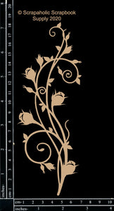 "DIRECT BUY SCRAPAHOLICS CHIPBOARD EMBELLISHMENT  ""BUDDING FLOURISH"" (HAS TO BE ORDERED)"