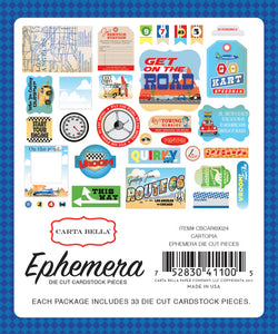 CARTA BELLA CARTOPIA EPHEMERA DIE CUT PACK (CLEARANCE)