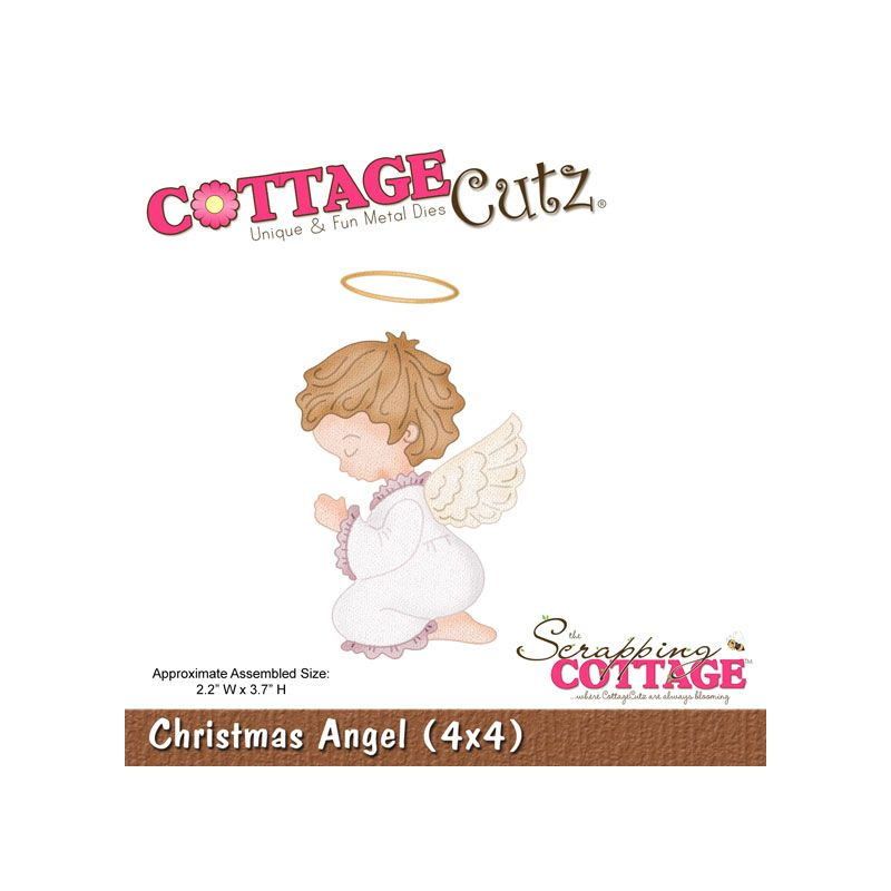 COTTAGE CUTZ METAL DIE CUT CHRISTMAS ANGEL (CLEARANCE)