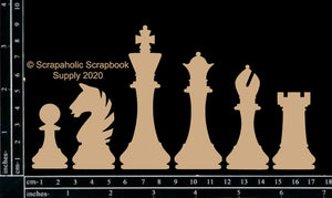 "DIRECT BUY SCRAPAHOLICS CHIPBOARD EMBELLISHMENT  ""CHESS PIECES"" (HAS TO BE ORDERED)"