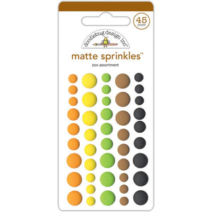 DOODLEBUG DESIGNS AT THE ZOO MATTE SPRINKLES ENAMEL DOTS (IN STOCK)