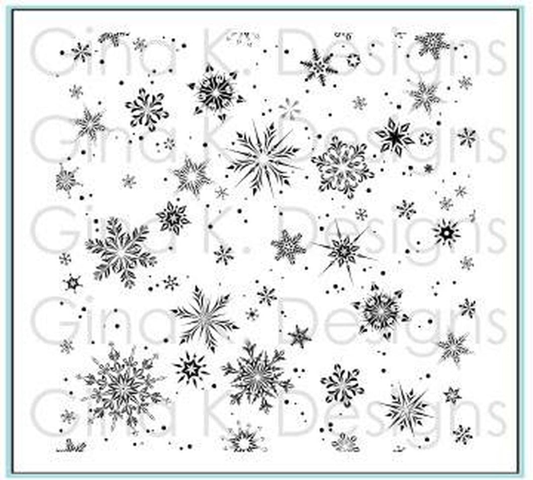 DIRECT BUY GINA K DESIGNS BACKGROUND RUBBER STAMP DELICATE SNOWFLAKES (HAS TO BE ORDERED)