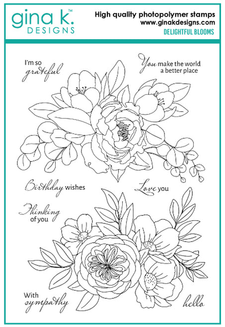 DIRECT BUY GINA K DESIGNS LARGE STAMP DELIGHTFUL BLOOMS (HAS TO BE ORDERED)