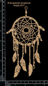 "DIRECT BUY SCRAPAHOLICS CHIPBOARD EMBELLISHMENT ""DREAM CATCHER MEDIUM"" (IN STOCK)"