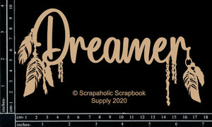 "DIRECT BUY SCRAPAHOLICS CHIPBOARD EMBELLISHMENT  ""DREAMER"" (HAS TO BE ORDERED)"