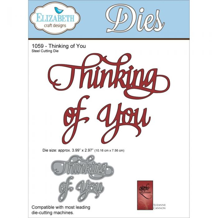 ELIZABETH CRAFT DESIGNS METAL DIE CUTS THINKING OF YOU (CLEARANCE)