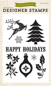ECHO PARK CLEAR STAMPS HAPPY HOLIDAYS (CLEARANCE)