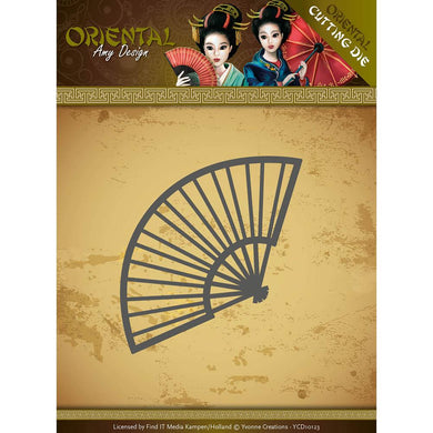 FIND IT TRADING AMY DESIGN METAL DIE CUT CHINESE FAN (IN STOCK)
