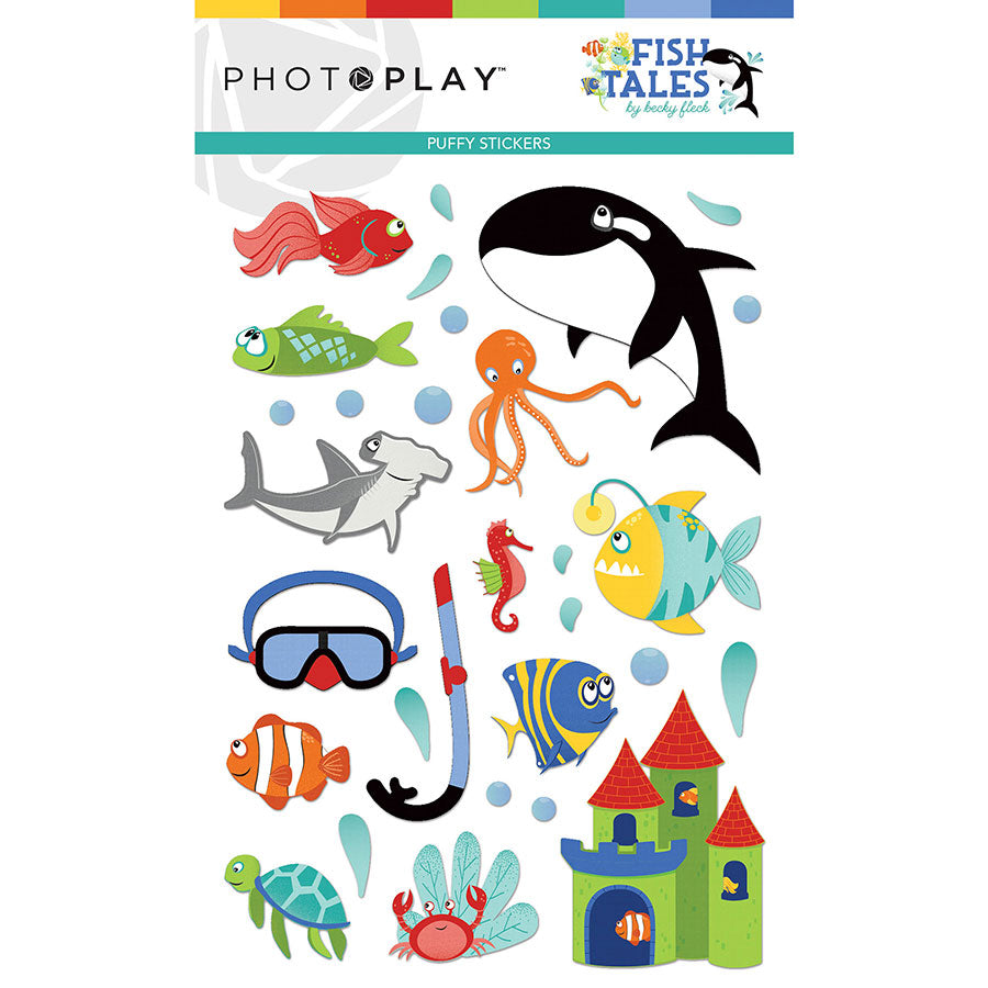 PHOTO PLAY FISH TALES PUFFY STICKERS (IN STOCK)