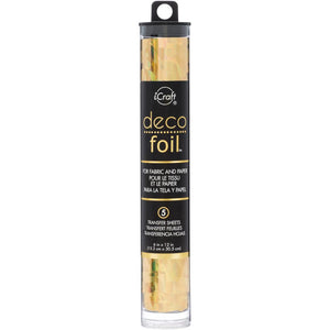 "DECO FOIL SPECIALTY TRANSFER SHEETS 6""X12"" 5 SHEETS ""GOLD SHATTERED GLASS"" (HAS TO BE ORDERED)"