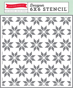 "ECHO PARK STENCIL HOLIDAY QUILT 6""X6"" (CLEARANCE)"