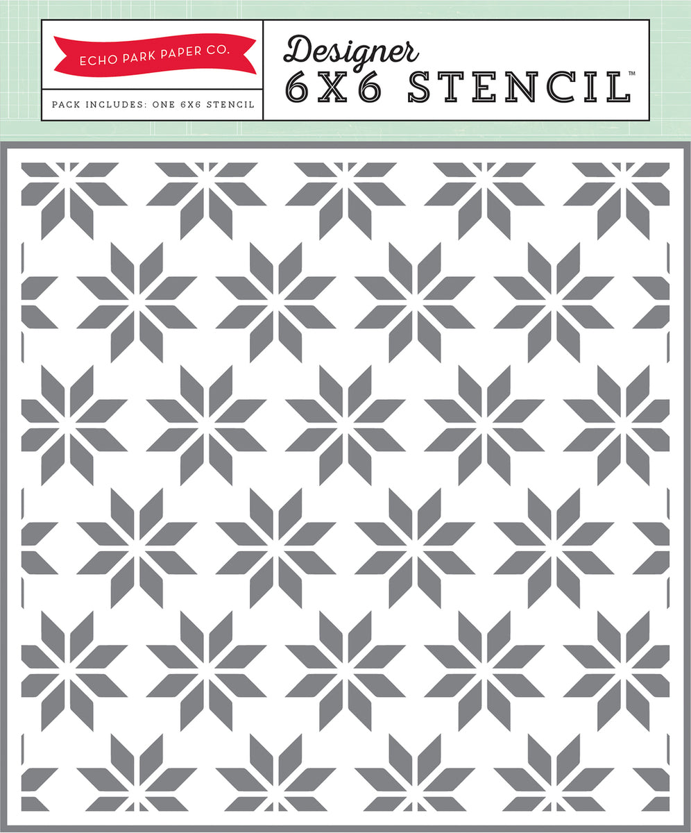 ECHO PARK STENCIL HOLIDAY QUILT 6