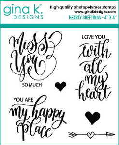DIRECT BUY GINA K DESIGNS MINI STAMP SET HEARTY GREETINGS (HAS TO BE ORDERED)