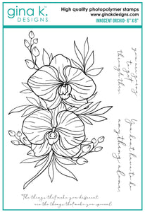 DIRECT BUY GINA K DESIGNS LARGE STAMP SET INNOCENT ORCHID (HAS TO BE ORDERED)