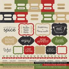 "KAISERCRAFT 12""X12"" CARDSTOCK STICKER SHEET (CLEARANCE) BON APPETIT"