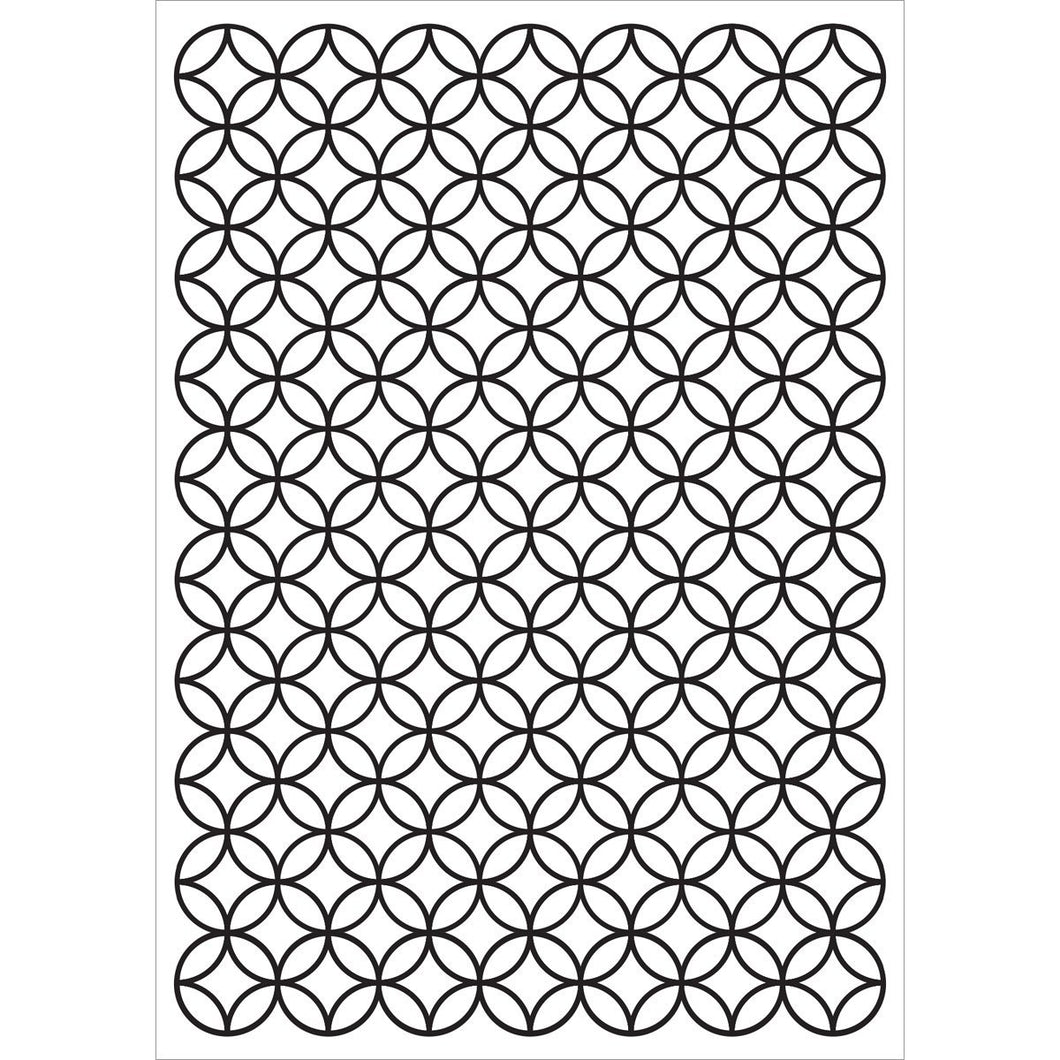 KAISERCRAFT EMBOSSING FOLDER STAINED GLASS (CLEARANCE)