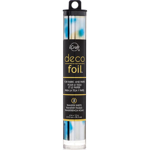 "DECO FOIL SPECIALTY TRANSFER SHEETS 6""X12"" 5 SHEETS ""LAPIS WATERCOLOR"" (IN STOCK)"