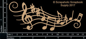 "DIRECT BUY SCRAPAHOLICS CHIPBOARD EMBELLISHMENT  ""MUSIC FLOURISH"" (HAS TO BE ORDERED)"