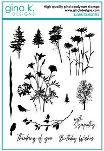 DIRECT BUY GINA K DESIGNS LARGE STAMP SET NATURAL SILHOUETTES (HAS TO BE ORDERED)