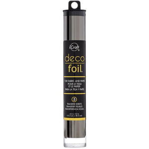 "DECO FOIL TRANSFER SHEETS 6""X12"" 5 SHEETS ""PEWTER"" (HAS TO BE ORDERED)"