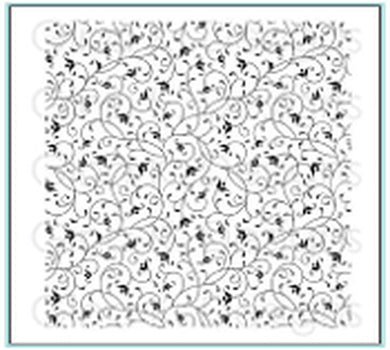 DIRECT BUY GINA K DESIGNS BACKGROUND RUBBER STAMP PETITE FLOURISH (IN STOCK)