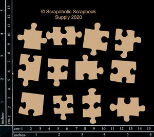 "DIRECT BUY SCRAPAHOLICS CHIPBOARD EMBELLISHMENT  ""PUZZLE PIECES"" (HAS TO BE ORDERED)"