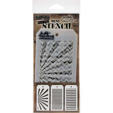 TIM HOLTZ STENCILS SET #42 (HAS TO BE ORDERED)