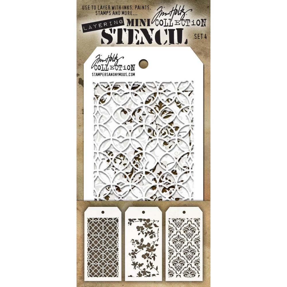 TIM HOLTZ STENCILS SET #4 (HAS TO BE ORDERED)