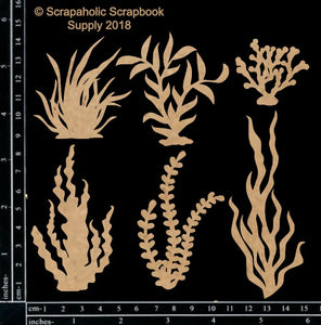 "DIRECT BUY SCRAPAHOLICS CHIPBOARD EMBELLISHMENT ""SEA FOLIAGE #1"" (IN STOCK)"